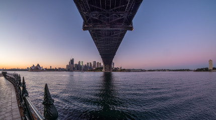 Sydney city at dawn