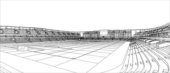 Sketch of Football stadium