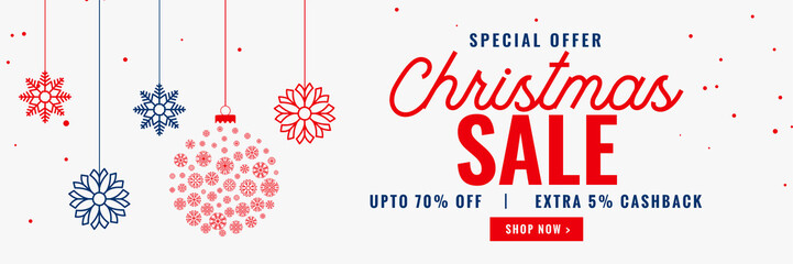 modern christmas season sale banner design