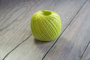 Colored ball of yarn