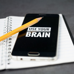 Use your brain concept
