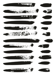 Calligraphy Paint Brush Lines High Detail Abstract Vector Background Set 158