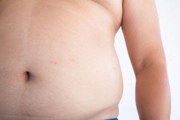 closeuo of Fat man body