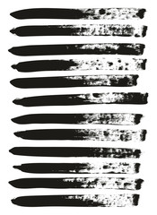 Calligraphy Paint Brush Lines High Detail Abstract Vector Background Set 139