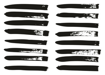 Calligraphy Paint Brush Lines High Detail Abstract Vector Background Set 108