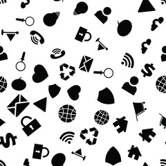 Computer Web Icons. Seamless vector EPS 10 Pattern