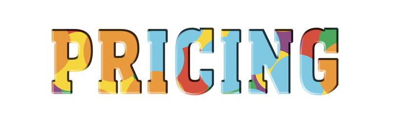Pricing Multicolor logo banner