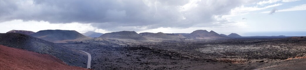 Vulcan Mountains on the Spanish island of Lanzarote