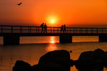 Malmö Sunset, Rocks, Seebrücke