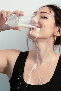 woman leaks milk