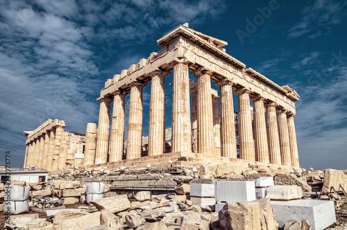 Fototapete Parthenon on the Acropolis in Athens, Greece