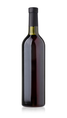 bottle red wine isolated