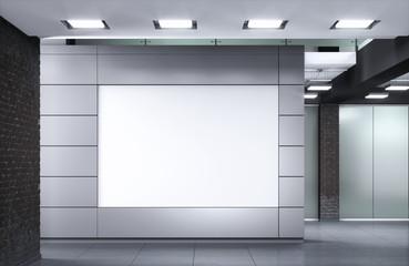 Office hall 3d illustration