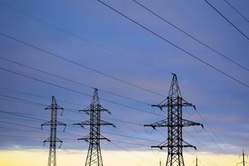 Power line technology voltage electrecity transmission landscape energy.