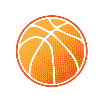 Basketball orange logo