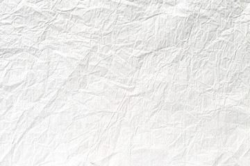 Crumpled old white paper texture