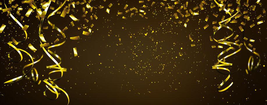 goldene partydeko hintergrund