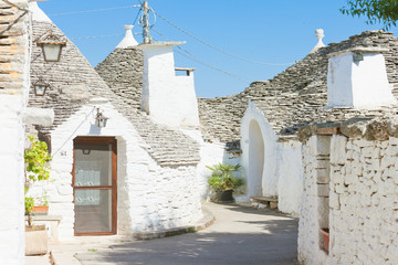Alberobello, Apulia - Trulli within a very small alleyway