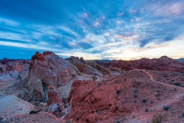 Valley of Fire State Park at Sunset, Las Vegas, Nevada, Usa