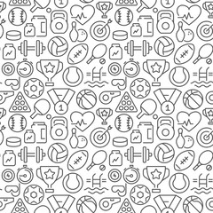 Sport related seamless pattern. Vector eps8 format