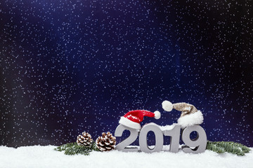 2019 Hintergrund Weihnachten Karte Silvester Grüße Wünsche
