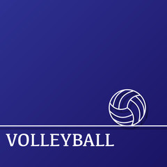 Outline volleyball background