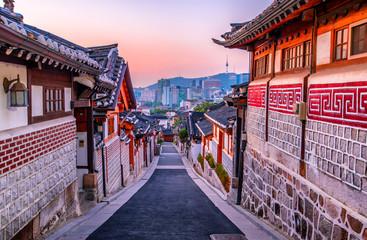 bukchon hanok traditional village at Seoul South Korea