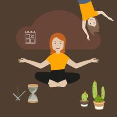 Meditation mit Familie