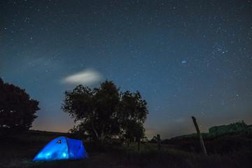 Dormindo sob as estrelas
