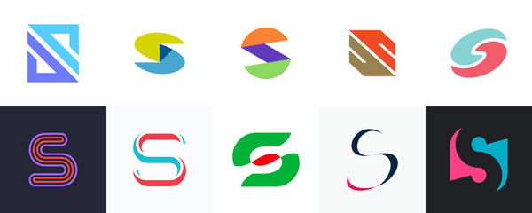 Set of letter S logo. Icon design. Template elements - Collection of vector sign