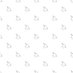 Hand draw background from line icon. Linear vector pattern. Vector illustration