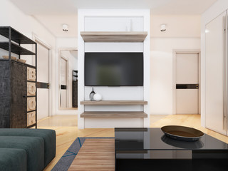 TV unit in a modern living room.