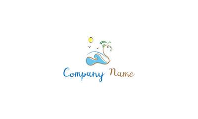 Island Holidays vector logo image
