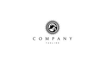 Sun Dragon vector logo image