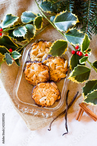 Typcial Traditional German Almond And Chocolate Biscuits For The