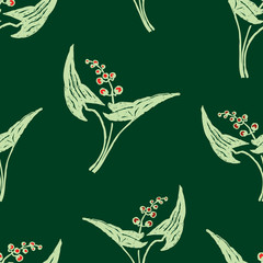 Seamless background of lilies of the valley