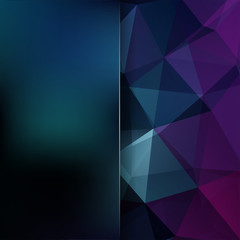 Abstract polygonal vector background. Dark blue geometric vector illustration. Creative design template. Abstract vector background for use in design