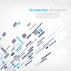 Technology background with small design elements. Vector illustration for presentations, polygraphy or banners.