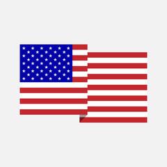 Flat American Flag