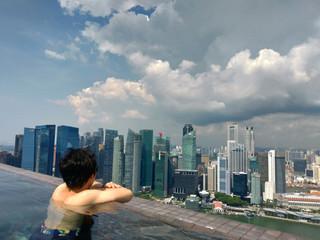 シンガポール マリーナベイサンズ インフィニティプール 日本人 男性 Singapore Marina Bay Sands Infinity Pool Japanese Men
