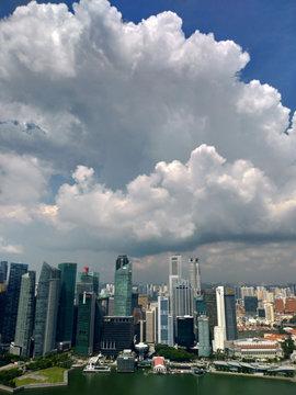 シンガポール マリーナベイサンズ インフィニティプールからの眺め Singapore Marina Bay Sands Infinity Pool View
