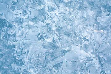 ice surface background, frozen water texture