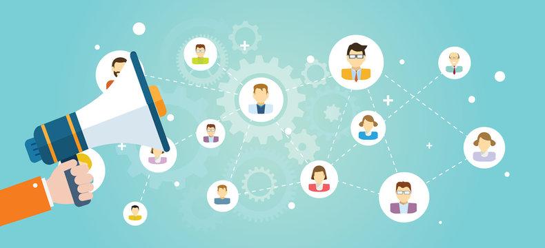 Concept design marketing vector banner