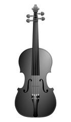 black violin on white background