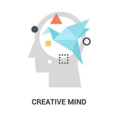 creative mind icon concept