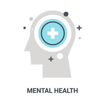mental health icon concept