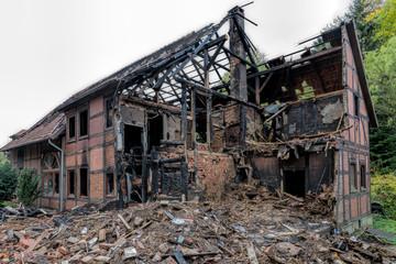 Abgebranntes Wohnhaus Fachwerk
