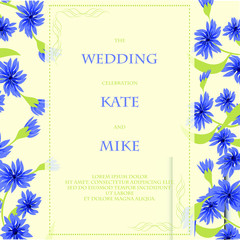 Vector wedding invitations with hflowers on red background. Floral design for cosmetics, perfume, beauty care products. Can be used as greeting card