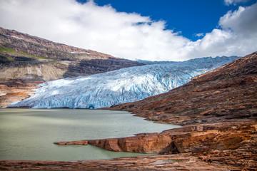 Printed kitchen splashbacks Glaciers Svartisen glacier, Norway, Europe. Svartisen glacier is second biggest glacier in Norway