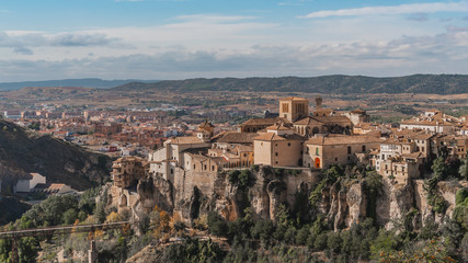 Aerial view of Cuenca, picturesque place in Spain